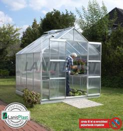 skleník VITAVIA URANUS 6700 PC 4 mm støíbrný