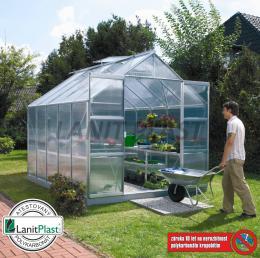 skleník VITAVIA URANUS 8300 PC 4 mm støíbrný