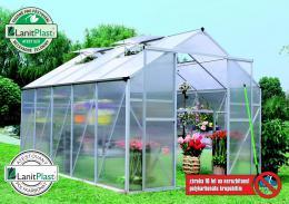 skleník LANITPLAST PLUGIN 8x12 støíbrný