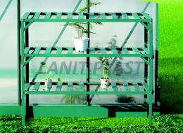 AL regál LANITPLAST 126x50 cm tøípolicový zelený