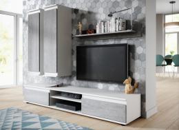 Obývací stìna Cher bílá/beton