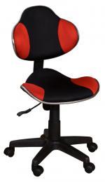 Dìtská otoèná židle QZY-G2  èerno-èervená