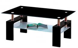 Konferenèní stolek A 08-3 èerná/èerné horní sklo