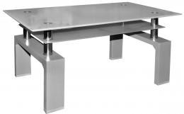 Konferenèní stolek A 08-3 šedá/šedé horní sklo