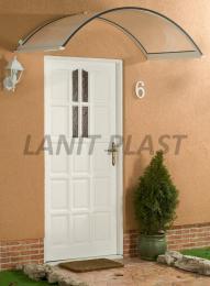 vchodová støíška LANITPLAST ONYX 160/90 bílá