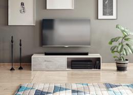 TV stolek Skip bílá/beton