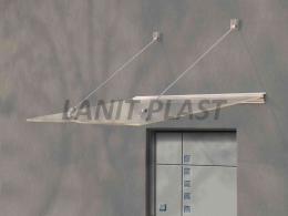 vchodová støíška LANITPLAST LAZUR 150/97 bílá