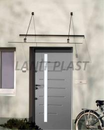 vchodová støíška LANITPLAST LAZUR 150/97 èerná