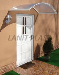 vchodová støíška LANITPLAST TOPAZ 130/70 bílá