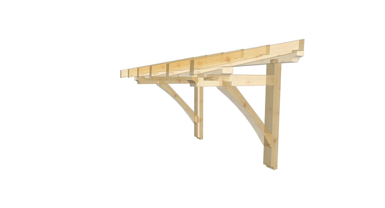 Stříška nad dveře dřevěná